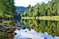River Tay Reflections (eric robb niven) Tags: ericrobbniven scotland dundee dunkeld cycling rivertay landscape