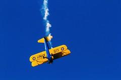 Boeing Stearman (Johnson Barros) Tags: blue acrobaciaaerea aerobatico aeronave aircraft airplane avião azul biplano boeingstearman céu fumaça fotojohnsonbarros ppxnp sky stearman aerobatic brasília df brasil bra