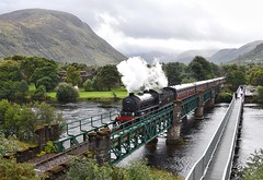 Fort William Scotland 11th September 2018 (loose_grip_99) Tags: fortwilliam scotland uk highlands bridge river bennevis steam railway railroad rail train engine locomotive preservation transportation lner britishrailways k1 260 62005 gassteam uksteam trains railways september 2018 jacobite