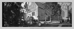 Ratzeburger Dom with 6x17 pinhole (Dierk Topp) Tags: bw berggerpancro400 dom realitysosubtle6×17 rodinal analog architecture architektur churches monochrom pinhole ratzeburg sw graveyard