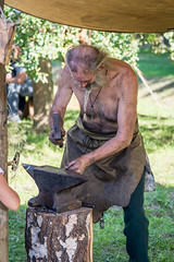 Work in progress (Jan Moons) Tags: haacht kasteelvanroost kasteelfeesten smid blacksmith darkages historic work craft dirty hot nikon nikond600 d600 nikkor 85mm prime 85mm18g