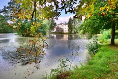 Pond and palace (Tobi_2008) Tags: teich schloss palace palast spiegelung reflection lauterbach sachsen saxony deutschland germany allemagne germania