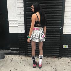 Drowning Skirt (leannaperry) Tags: leannaperry illustration desigm fashion streetstyle custom diy handmade garment newyork brooklyn kawaii design designer blackmetal hellokitty graphic lettering punk goth emo