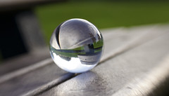 The crystal ball bench (Elisafox22) Tags: elisafox22 sony nex6 lensbaby composerpro 50mm optic sweet50 hbm benchmonday bench wood wooden seat crystal crystalsphere portsoy aberdeenshire scotland elisaliddell©2018