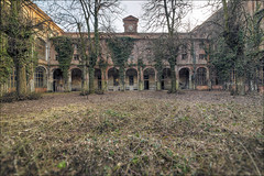 Back To The Future (Midnight - Digital) Tags: hospital abandoned psychiatric decay outdoor lost forgotten architecture courtyard