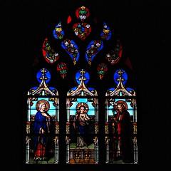 4 - Metz, Eglise Saint-Eucaire, Vitrail (melina1965) Tags: lorraine moselle metz grandest septembre september 2018 nikon d80 vitrail vitraux stainedglasswindow stainedglasswindows église églises church churches