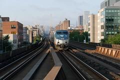 Morning Departure (CrispyBassist) Tags: railroad railway train track transit nyc newyork newyorkcity manhattan amtrak amtk