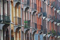 Amsterdam (gasgyo) Tags: netherlands buildings colorful balcony amsterdam brick