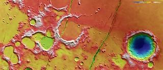 Topographic view of Cerberus Fossae