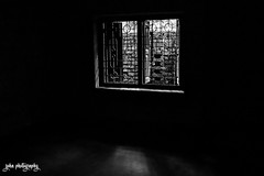 Obstructed View (smzoha) Tags: blackandwhite bw window wall view blocked obstructed duotone shadows silhouette light reflection abstract vivid minimal