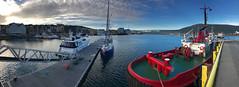 (piper969) Tags: porto port norway norge tromso barche boats mare sea fiordo fiord panoramica norvegia
