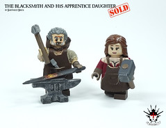 Blacksmith and his apprentice daughter - by Barthezz Brick (Barthezz Brick) Tags: lego legos toy toys custom moc afol medieval blacksmith apprentice barthezzbrick barthezz brick legocreator minifig minifigure minifigures legominifig legominifigur legominifigures