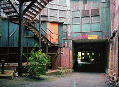 Color Pop (Scuffles33) Tags: abandoned factory industrial decay mediumformat mamiya 120film