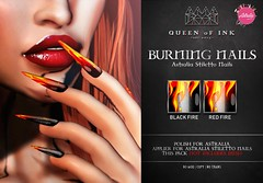 *Queen oF Ink [Burning Nails] Astralia Stiletto Nails Applier @DUBAI (MonaSax95 | Queen oF Ink) Tags: new news nails applier vendor photo pic shot picture creative queenofink secondlife sl beauty beautiful fashion style moda glamour event exclusive polish