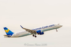 Thomas Cook G-TCDB A321-200 (IMG_9632) (Cameron Burns) Tags: thomascook thomas cook gtcdb voyagerandroid voyager android airbus airbus321 airbus321200 a321 a321200 mjt mytilene greece blue yellow white manchester airport manchesterairport man egcc ringway viewing park airfield aviation aerospace airliner aeroplane aircraft airplane plane canoneos550d canoneos eos550d canon550d canon eos 550d uk united kingdom unitedkingdom gb greatbritain great britain europe action