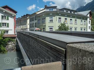 LIN460 Plattenaustrasse Road Bridge over the Linth River, Schwanden, Canton of Glarus, Switzerland