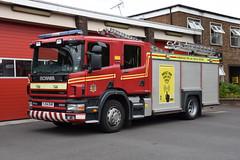 Humberside - YJ54EHR - Reserve (matthewleggott) Tags: humberside fire rescue service engine appliance yj54ehr scania emergency one spare reserve scunthorpe