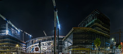 chase (warriors) arena progress 8.23.18 (pbo31) Tags: bayarea california night dark black color urban city august 2018 summer boury pbo31 sanfrancisco construction chase arena 3rd warriors sport basketball nba missionbay crane panoramic large stitched panorama
