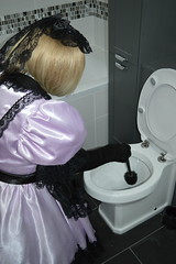 Pale lilac uniform 21 (sissybarbie1066) Tags: sissy maid maids sissymaid sissymaids slave collar bondage locked pale lilac black uniform
