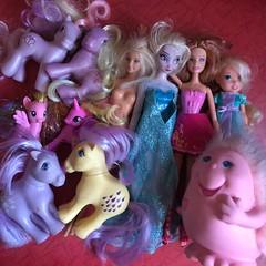 Flea Market Finds : 08-12-2018 (MyMonsterHighWorld) Tags: elsa disney frozen doll store barbie a fairy secret my little pony g1 g3 g4 toy playskool mattel dolls snugglebumms