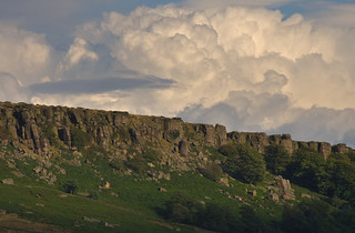 Stanage Edge Clouds