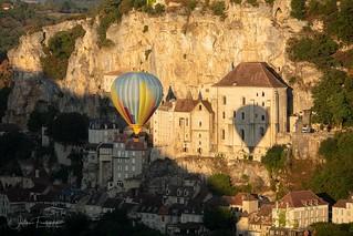 Montgolfière à Rocamadour