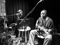 chicago blues with ....  WATCH: (Shein Die) Tags: blackandwhite bw blackwhite monochrome guitar harmonica harp chicago blues jazz