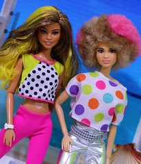 Neon Rockers (Annette29aag) Tags: barbie doll fashionista rocker photography portrait pose neon