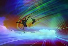 "Dancing on clouds (♣Cleide@.♣) Tags: © ♣cleide♣ brazil 2018 photo art digital ps blending texture effect colors artdigital exotic ""netartii"" awardtree"