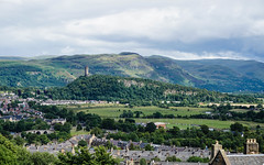 Wallace Monument and Abbey Craig across Stirling (p.mathias) Tags: wallace williamwallace tower landscape landschaft scotland stirling stirlingshire ochil ochils hills scenery scottish scenic suburbs unitedkingdom uk europe history city cityscape outside rural summer sommer outdoors day sony a5100