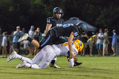 """PVHS v. Palatka-207 (mark.calvin33) Tags: football field sport ball """"high school"""" """"ponte vedra high pvhs block tackle rush run pass catch receiver blocker """"running quarterback fumble completion reception hike pitch snap """"friday night lights"""" fans stands kick """"end zone"""" """"nikon 2018 win athletics athletes """"night photography"""" """"sharks football"""" back d7100"""