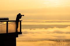 Taking photo on misty morning (VisitLakeland) Tags: finland kuopiotahko lakeland tahko auringonnousu aurinko cloud fog forest hiking luonto luontokohde maisema misty nature outdoor retkeily scenery sumu sunrise