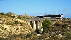 Barranc del Xarco (lagunadani) Tags: trentram tram tranvia tren ferrocarril vossloh fgv puente bridge narrowgauge villajoyosa alicante spain trenet trenetdelamarina