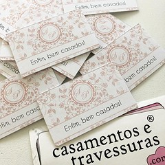 Tags para os tão esperados Bem Casados! 🎁casamentosetravessuras.com #casamentosetravessuras #bemcasados (casamentosetravessuras) Tags: instagram facebookpost lembrancinhas personalizadas