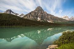 Waterfowl Lakes with Mount Chephren (explored) (birgitmischewski) Tags: waterfowllakes banffnationalpark icefieldparkway alberta canada mountchephren