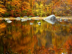 Rocky Autumn Reflection (Stanley Zimny (Thank You for 32 Million views)) Tags: autumn fall landscape reflection color harriman park lake orange rocks colors 4 seasons