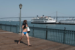 Untitled (kenwalton) Tags: america animal animals ape architecture attire audio audioequipment bathingsuit bay baybridge bikini boat bodyofwater boombox california clothes clothing electronics embarcadero footwear gadget gorilla headgear human humans mammal mammals mask masks northamerica outfit pedestrian pedestrians people person photography pier piers primate primates sanfrancisco sanfranciscobay sandals shoe shoes street streetphoto streetphotography swimsuit theembarcadero twopiece usa unitedstates unitedstatesofamerica urban vehicle vehicles walker walkers water waterfront day daytime streetphotographer