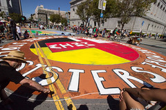 RISE4ClimateJobsJustice_IMG_9282-1 (rawEarth) Tags: rise riseforclimatejobsandjustice streetpainting giantmural hugemural climatejustice frontlinecommunities environmentalgroups idlenomoresfbay nativeamericans climatechaos keepitintheground nofossilfuels climatechange sanfrancisco civiccenter civiccenterplaza unplaza justtransition 100remewable jerrybrown 350org governorbrown walkyourclimatetalk nofossilfuelextraction globalclimateactionsummit nofalsesolutions
