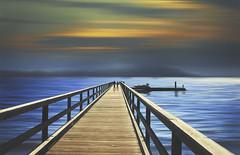 Come to the edge (charhedman) Tags: catespark northvancouver northvancouverslargestseasidepark pier wood water cometotheedge sunset ocean people motionblur slidersunday hss