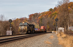 NS 9288 - Anderson, PA (Wheelnrail) Tags: ns norfolk southern ge pittsburgh line middle division railroad rail road rails intermodal signal signals pl autumn fall anderson pa pennsylvania prr