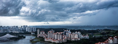 Colours of Singapore (paulcore8118) Tags: singapore kallang basin tanjong rhu indoor stadium concourse view storm clouds parade marine marina