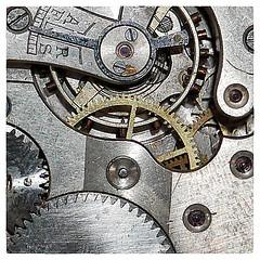 Cogwheel. (karl from perivale) Tags: cogwheel macromondays macromonday macro metal pocketwatch spring hmm old