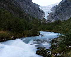 The Briksdal glacier (smir_001) Tags: briksdalglacier briksdalsbreen jostedalsbreenglacier jostedalsbreennationalpark briksdalenvalley mountain lake waterfall glacierriver river stream reflection climate attraction nature outdoor landscape environment longexposure panorama vista norway loen olden valley norway2018 august summer canoneos7d