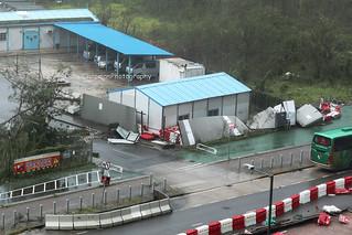 Super Typhoon Mangkhut, Tseung Kwan O, Hong Kong