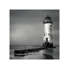 Talacre Lighthouse (Dave Slinn) Tags: talacre lighthouse pointofayr wales northwales welshcoast longexposure blackandwhite mono sea coast beach ndfilter