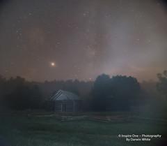 Moon Beams on Lake-9353 (Inspire One Photography by Darwin White) Tags: milkyway stars nightscene nightphotography historical greatsmokymountainsnationalpark cadescove darwinwhitephotography