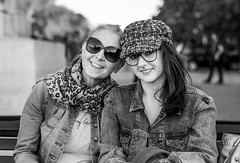 Mum and Daughter (daveseargeant) Tags: mum wife daughter monochrome black white greenwich london street nikon df 50mm 18g portrait