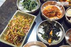 Banchan spread before Korean barbecue (thewanderingeater) Tags: samwongarden samwongardenkoreanbbq koreanbbq barbecue grilling manhattan ktown nyc