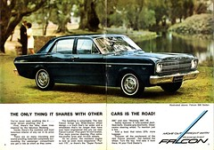 1967 XR Ford Falcon 500 Page 1 & 2 Aussie Original Magazine Advertisement (Darren Marlow) Tags: 1 5 6 7 9 19 67 1967 x r xr f ford falcon 500 s sedan c carcool collectible collectors classic a automobilev vehicle aussie australian australia 60s