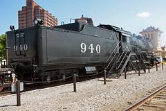 Atchison, Topeka & Santa Fe Railway No. 940, Oklahoma, Bartlesville (EC Leatherberry) Tags: oklahoma locomotive steam atchisontopekasantaferailway 1903 tendercar baldwinlocomotiveworks bartlesvilleoklahoma washingtoncounty
